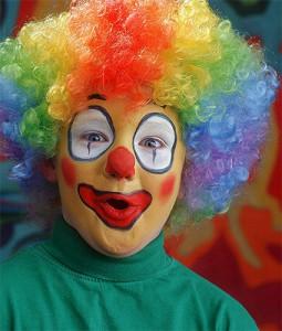 красно-синий клоун